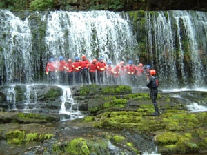 Canyoning in the Brecon beacons with Call of the Wild