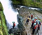 Hen party canyoning with call of the Wild in the Brecon Beacons, Wales